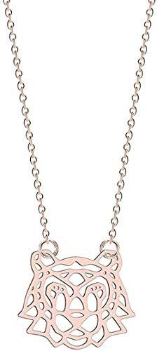 NONGYEYH co.,ltd Collar de Oro para Mujer, Collar con Forma de Mickey, alas angulares, Encanto de pájaro geométrico, joyería llamativa, Collar Infinito, Regalo para niñas