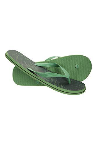 Mountain Warehouse Beach Walk Flipflops für Herren - Klassische Schuhe, leichte Sandalen, Bequeme Laufsohle, Sommerschuhe zum Schlüpfen - Für Reisen, Strand, Pool Dunkelgrün 44
