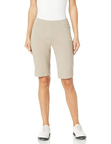 SLIM-SATION Golf Shorts Women's,Color Stone,Size 12