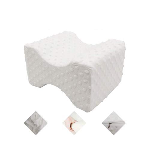Jokeagliey Memory Foam Knie- Ideal für Schwangerschaft, Hüfte, Beine, Knie, Rücken und Wirbelsäule - orthopädische Memory Foam-Beinpolster mit waschbarem Bezug,White