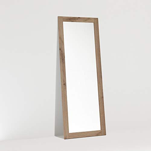 ARHome Espejo de suelo, 160 x 60, roble rústico, espejo de pared, Made in Italy