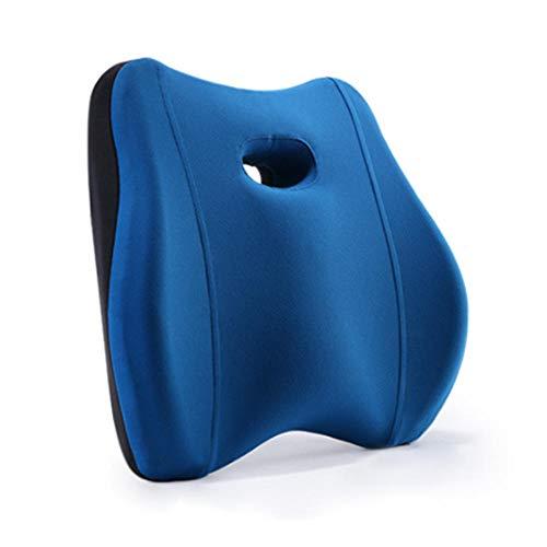 Novhome Almohadilla Lumbar Silla Oficina, CojíN de Apoyo para la Espalda Almohada Lumbar Corrector de Postura de la Espalda Baja Reforzar CojíN de Espuma ViscoeláStica para la Espalda Alivia el Dolor