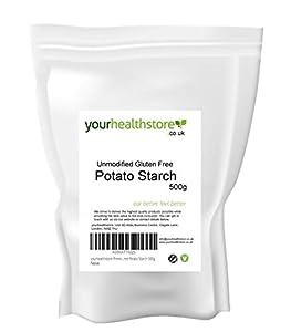 yourhealthstore - Almidón de patata sin gluten sin modificar, 500 g, vegano, envase reciclable