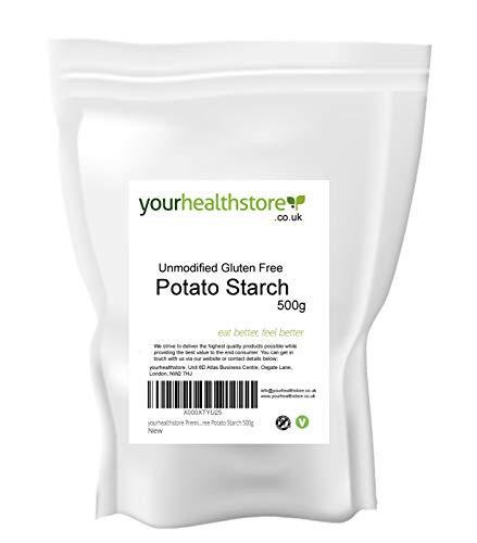 yourhealthstore Almidón de patata sin gluten, 500 g, vegano, (bolsa reciclable)