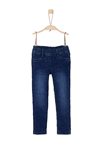 s.Oliver RED Label Mädchen Slim Fit: Skinny Leg-Denim mit Elastikbund Dark Blue stretche 128.Slim
