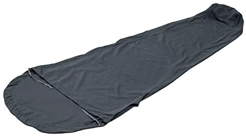 ALPS Mountaineering Brushed Polyester Mummy Sleeping Bag Liner, Charcoal, One Size