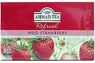 Ahmad Herbal Tea Bags, 20 Bags( Pack of 2) (Wild Strawberry)