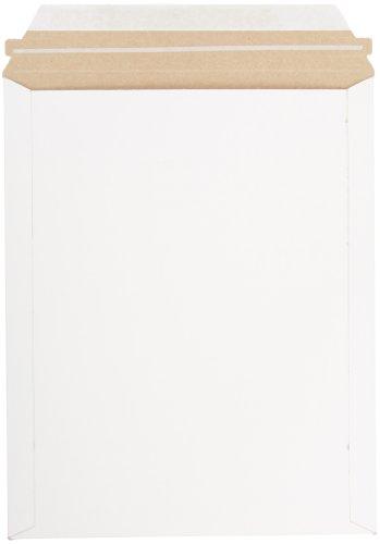 Pratt MJ-4 Self-Seal Stay Flat Mailer, White, 9.75