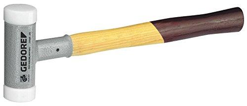 GEDORE Rückschlagfreier Schonhammer, Ø 25 mm, Hickorystiel, Austauschbare Polyamid-Köpfe