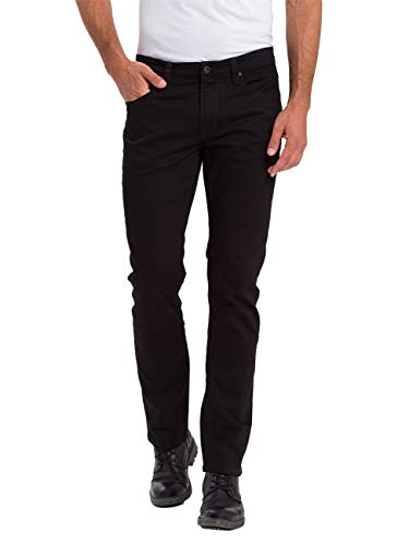 Cross Jeans Herren Jeans Jeanshose Stretchjeans Dylan Regular Fit Schwarz Black Crinkle W28-W38 98,5% Baumwolle, Größe:W 34 L 36, Farbvariante:Black Crinkle (101)