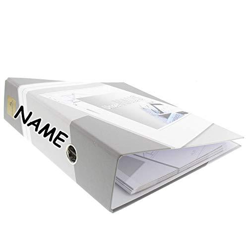 goldbuch personalisiert mit Name - 33001 Ordner (A4, 28,5 cm x 32 cm, Unser Haus, 6,2 cm Rückenbreite, Kunstdruck) grau