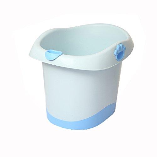 Siège multifonctionnel pliant seau ménage plastique 0-6 ans bébé baignoire baignoire confortable portable/stable Portable/matériel de sécurité bleu, vert, rose (67 * 37.7 * 50 cm)
