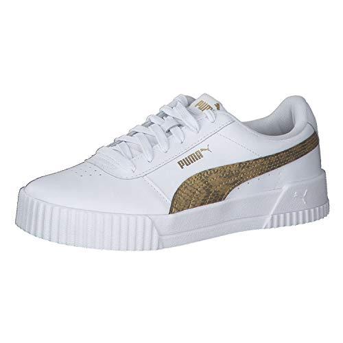 Puma Damen Sneaker Carina Snake 373808 Puma White-Puma Black 42.5