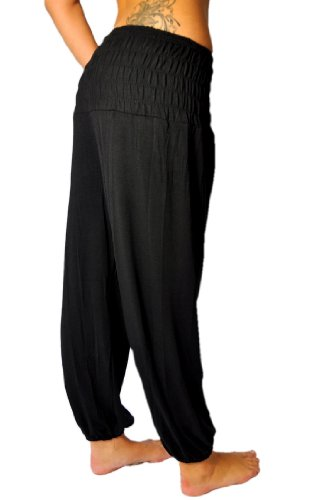 Aladin, pantaloni in stile orientale, di misura universale nero Taglia universale