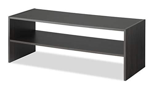 Whitmor Stackable 2-Tier Shoe Shelf, 31 inch, Espresso
