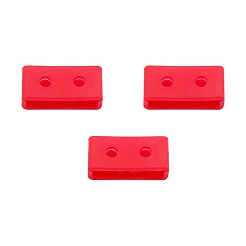 ibasenice Retenedor de Correa para Reloj - 3PCS Silicona de Repuesto Lazos de la Correa de la Correa del Reloj Anillos de la Correa del Reloj compatibles con G-Shock GA110 GD ba (Rojo 20 mm)