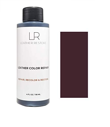 Leather Restore Leather Color Repair, Maroon 4 OZ - Repair, Recolor and Restore Couch, Furniture, Auto Interior, Car Seats, Vinyl and Shoes