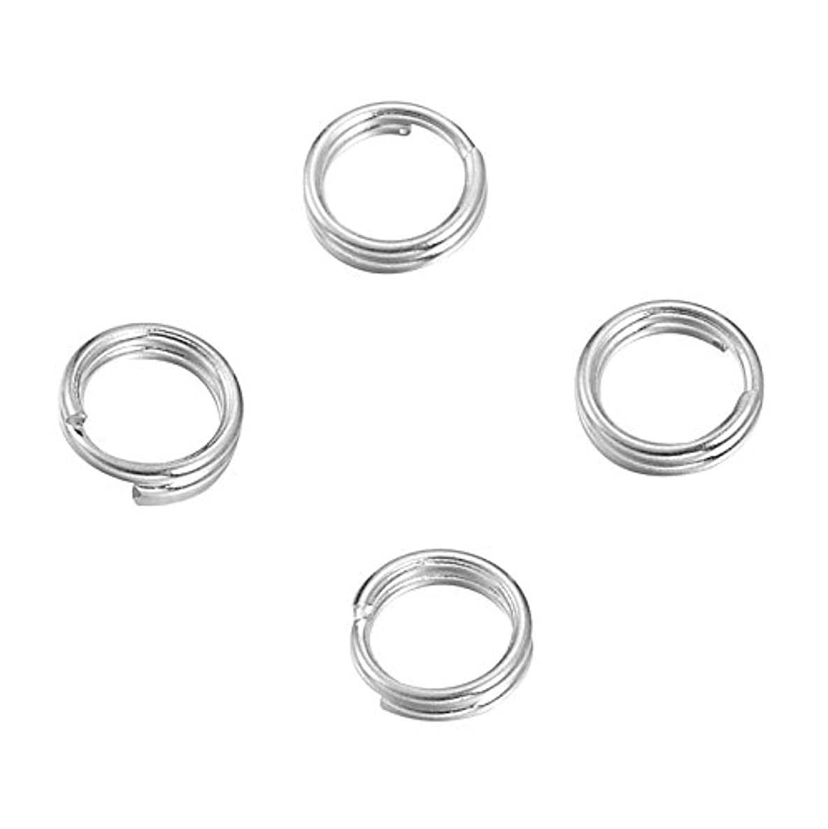 VALYRIA Sterling Silver Split Jump Ring Connector Charm Jewelry Findings,20pcs 5.0mmx0.6mm