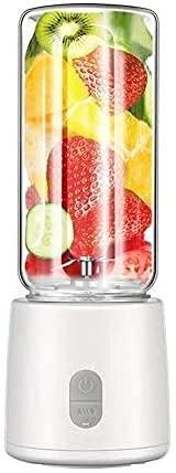 XUERUIGANG Blender Portable, Blender Personal, Smoothies Mini Jucier Cup, USB Recargable, Juicer Cup, Tamaño Personal Blender Shakes (400ml Blanco)