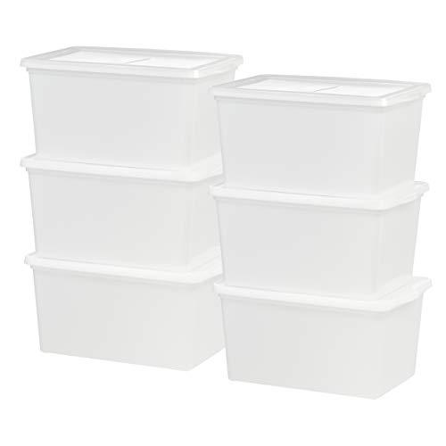 IRIS USA, Inc. CNL-58 58 Quart Storage Box, 6 Pack, Pearl