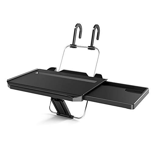 SAFLYSE Multifunktion Auto Laptop Klapptisch Tischhalterung Autohalter mit Schublade mit ipad positionsrasten für Auto Rücksitz Kopfstütze und Lenker