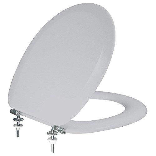 Gepolsteter WC-Sitz POLSI Super Soft Manhattan grau DAS Original mit Edelstahlscharnieren ! Ringsitz