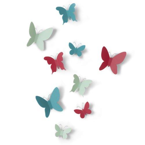 umbra ウォールデコレーションパピヨン蝶々9個セット MARIPOSA 2470130022