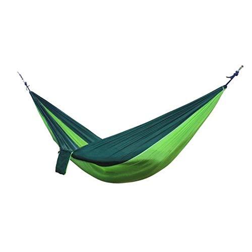 Draagbare hangmat 2-persoons outdoor camping Survival hangmat Tuinschommel Jagen Hangende slaapstoel Reisparachute hangmatten, 02