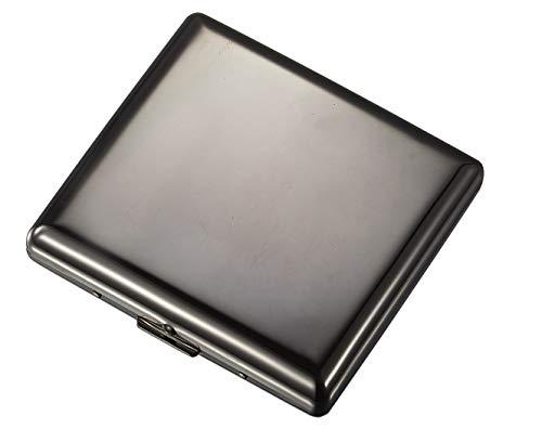Visol Venus Stainless Steel Cigarette Case - Holds 20 Cigarettes (Gunmetal)