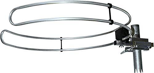 SCHWAIGER -20389- Dipolo de anillo VHF para exteriores | Antena de radio FM | antena para radios, sistemas estéreo, sistemas de audio hifi, receptores, aparatos de TV | dipolo de 500 mm de diámetro