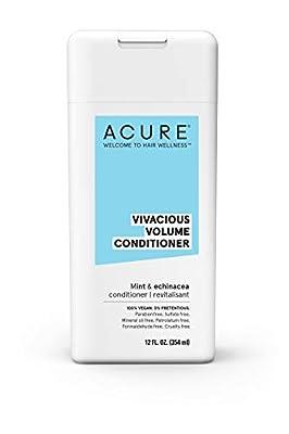 ACURE Vivacious Volume Conditioner - Mint & Echinacea | 100% Vegan | Performance Driven Hair Care | Increases Volume, Boosts Fine & Limp Strands | 12 Fl Oz