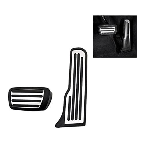 FSLLOVE FANGSHUILIN 2pcs Fit para Cadillac ATS ATS-L CT6 Acelerador de Acero Inoxidable Accelerador Pedal Pedal Pedal Pedal Funda (Color Name : Silver Black)