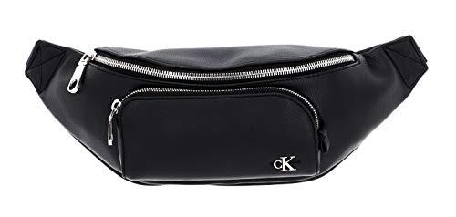 CK JEANS Men's WAISTBAG W/Front Pocket ACCESSOIRES, Black, One Size Medium