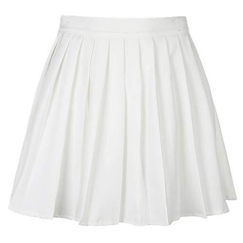 N\P Casual Blanco Letra Bordado De Cintura Alta De La Mujer Faldas De Verano Plisado Falda Corta Niñas Mini Falda