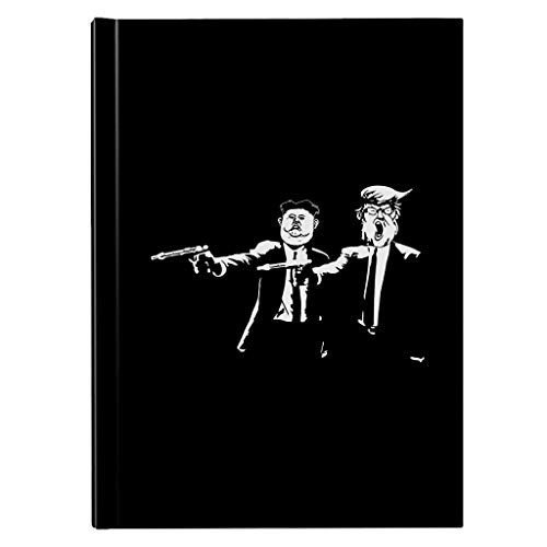 Donald Trump Kim Jong Un Pulp Fiction Hardback Journal