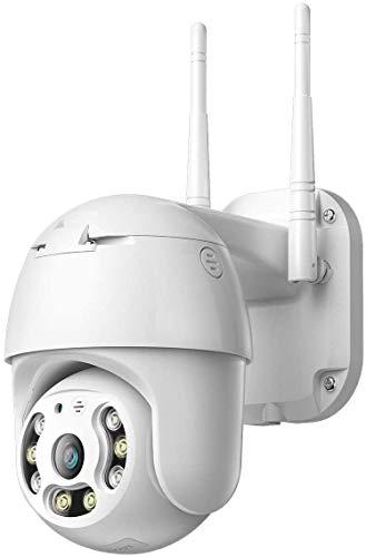 Vokot A6 IP Cam Wifi PTZ Full HD 1080P 2MP con visione notturna, IP 66, controllo da remoto,Sensore di movimento, Microfono integrato, Supporto Micro SD, Videocamera Wireless