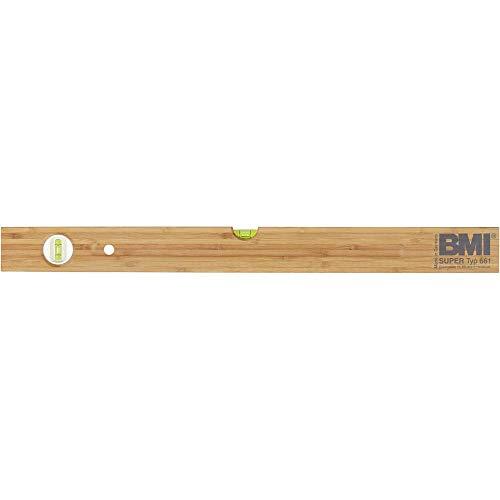 BMI 661100Wasserwaage 100cm aus Hartholz, Braun