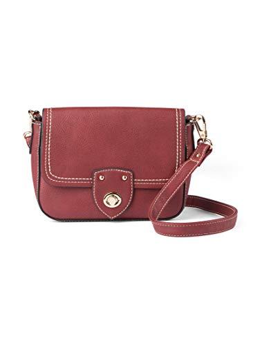 TOM TAILOR Umhängetasche Damen Jolanda, Rot (Rot), 22x15x6.5 cm, TOM TAILOR Handtaschen, Taschen für Damen