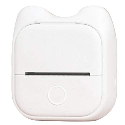 Wivarra T02 Taschen Drucker - Foto Drucker Tragbarer Thermo Drucker Kompatibel mit Android IOS, Wei?