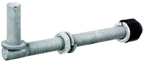GAH-Alberts 410803 Gonds | une paire, à visser, réglable | galvanisés à chaud | cote axe ⌀16 mm | longueur 190 mm | filetage M16
