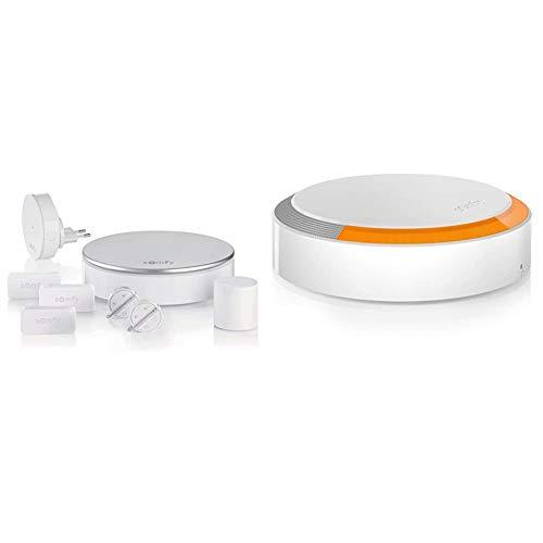 Somfy, Home Alarm, Pack alarma, gris plateado +Sirena Exterior para Alarma Somfy Protect, 112 dB, Blanco