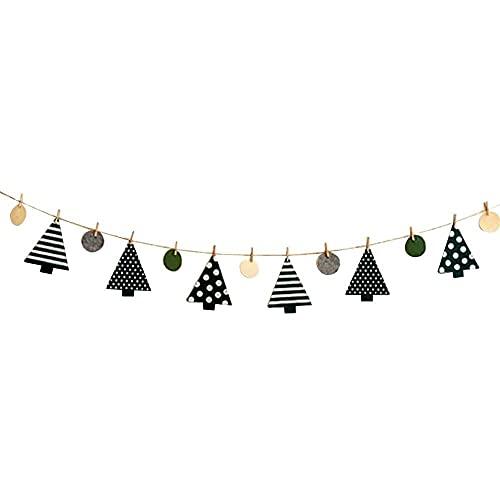 xiaoyu shop Banner de Navidad Árbol Colgante Guirnalda de Navidad Ornamento de vacaciones Banner de vacaciones