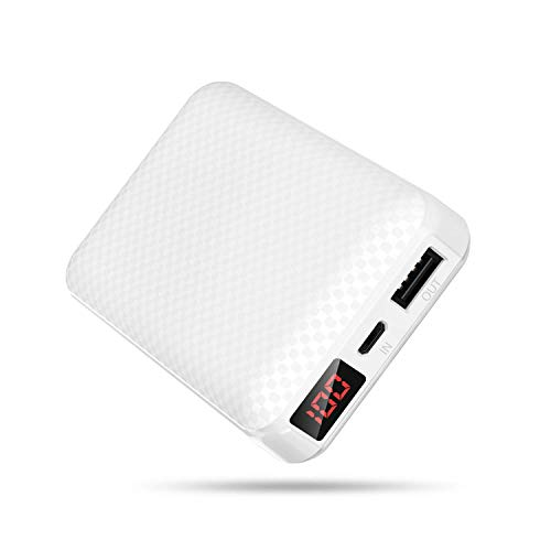 Grandbeing Bateria Externa para Movil, Power Bank (Blanco 10000mAh)