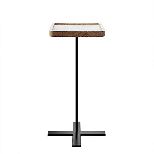 ShiSyan Moderno Alto de Madera Mesa Auxiliar Mesa Auxiliar Sofá Café del diseño Simple (Tamaño: 25 * 25 * 55 cm) Mesas