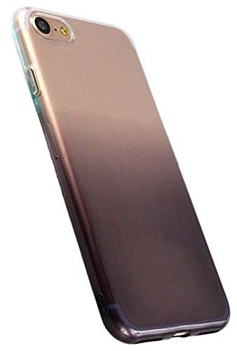 DaoRier Hülle für iPhone 7 4,7'' Schutzhülle Stufenweise Farbe TPU Transparent Weich Handyhülle Kratzfeste Ultradünne Cover Case Stoßfeste Rückschale Grau