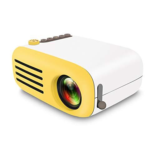ZZLYY projector 4500 lumen, Full HD 1080P ondersteunt mini draagbare beamer, twee multimedia-luidsprekers, retro-projector, 200 inch LED bioscoop huis compatibel