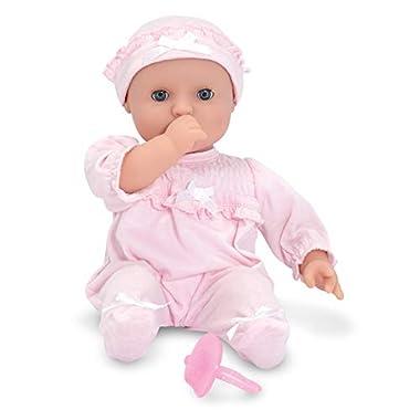 Melissa & Doug Mine to Love Jenna 12″ Soft Body Baby Doll With Romper, Hat