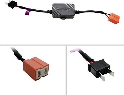 KOOMTOOM CANbus decodificador H7 anti parpadeo arnés LED faro bombilla intermitente advertencia error libre EMC Canceller decodificador