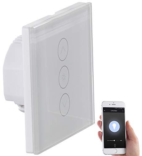 Luminea Home Control WLAN Dimmer Unterputz: Touch-Lichtschalter & Dimmer, komp. zu Amazon Alexa & Google Assistant (Alexa Dimmer Unterputz)