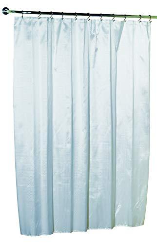 Carnation Home Fashions Lauren Dobby Duschvorhang aus Stoff, 188 x 183 cm, Grau
